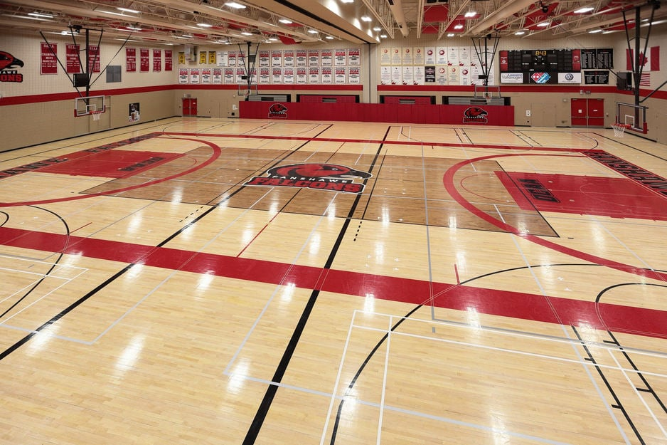 Sports flooring gallery gym hardwood refinishing for Basketball gym floor plan